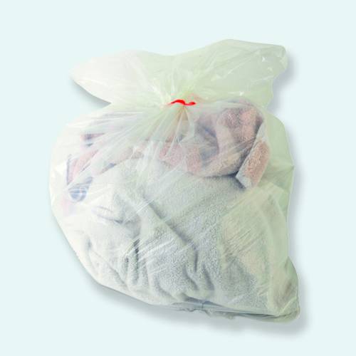 Bolsa biodegradable y soluble